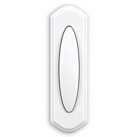 White Finish Surface Mount Wireless Doorbell Button