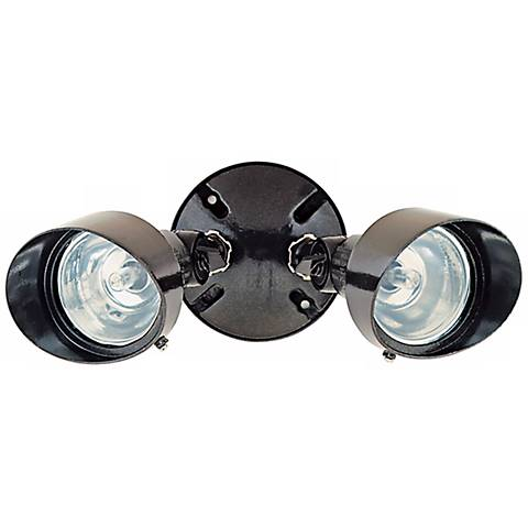 "Bronze Finish 12 1/4"" Wide Twin Halogen Spot Security Light"