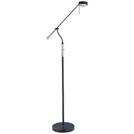 Alogene Black Balance Arm Floor Lamp