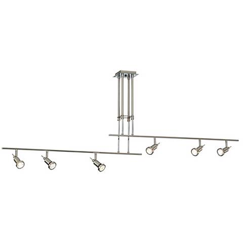 Two Rail Adjustable 6-Light Ceiling Fixture
