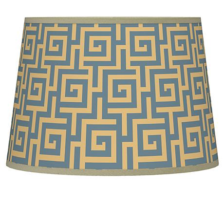 Greek Key Storm Tapered Lamp Shade 10x12x8 (Spider)