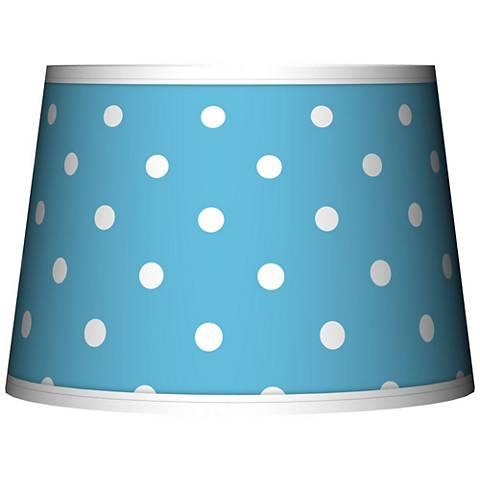 Mini Dots Aqua Tapered Lamp Shade 10x12x8 (Spider)