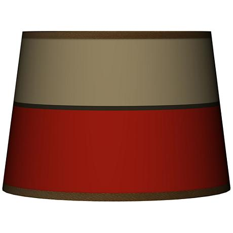 Empire Red Tapered Lamp Shade 10x12x8 (Spider)