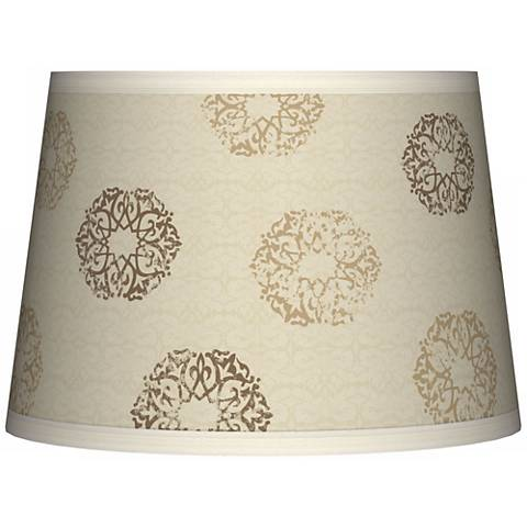 Sand Medallion Tapered Lamp Shade 10x12x8 (Spider)