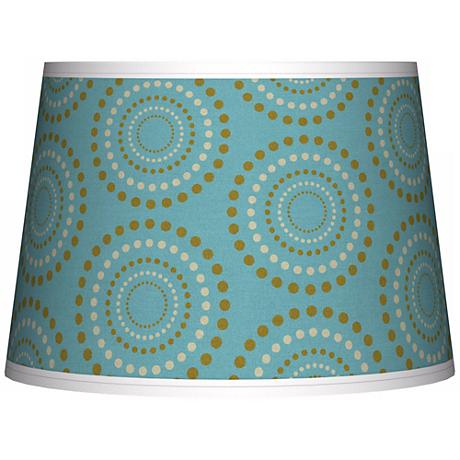 Blue Calliope Linen Tapered Lamp Shade 10x12x8 (Spider)