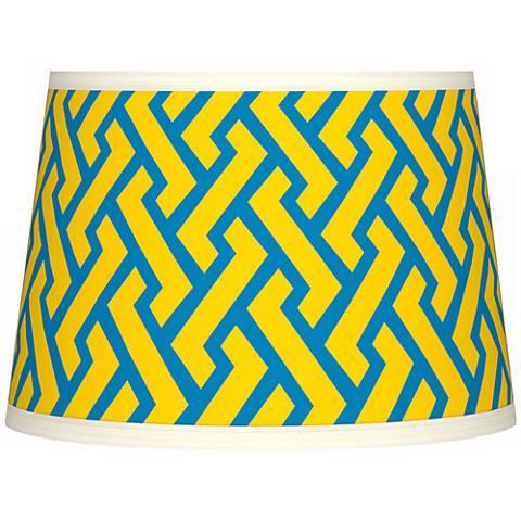 Yellow Brick Weave Tapered Lamp Shade 10x12x8 (Spider)