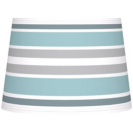 Multi Color Stripes Giclee Tapered Lamp Shade 10x12x8 (Spider)