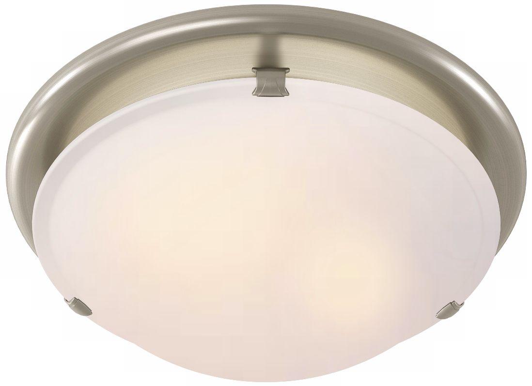 Elegant Sleek Circle Brushed Nickel Bathroom Fan With Light