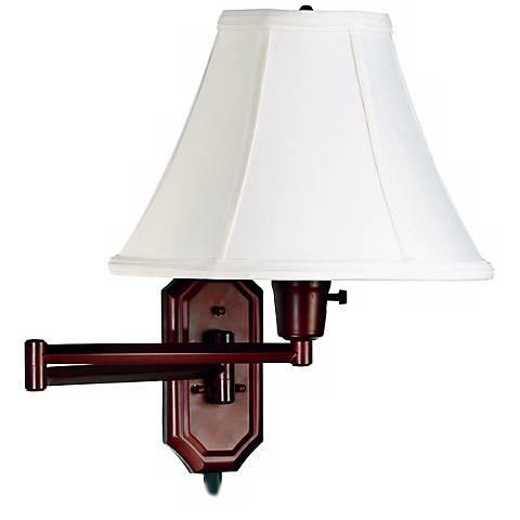 Kenroy Home Nathaniel Bronze Plug-in Swing Arm Wall Light