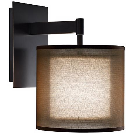 Lamps Plus Plug In Wall Sconces : Robert Abbey Saturnia Bronze Plug-In Wall Sconce - #K8086 Lamps Plus