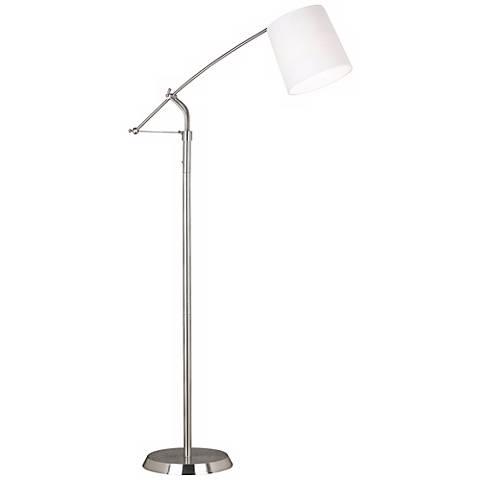 Kenroy Reeler Brushed Steel Balance Arm Floor Lamp