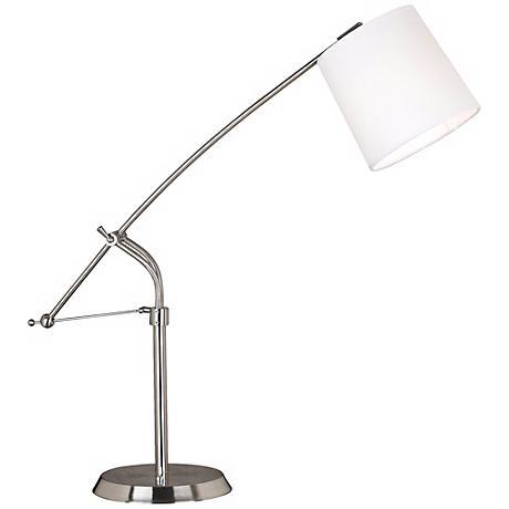 Kenroy Reeler Brushed Steel Balance Arm Desk Lamp