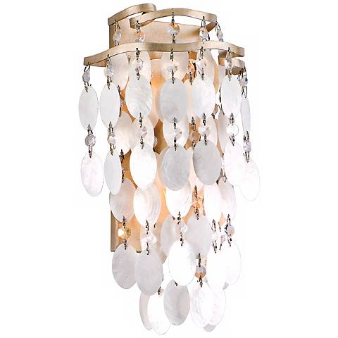 """Dolce Capiz Shell 14 1/4"""" High Wall Sconce"""