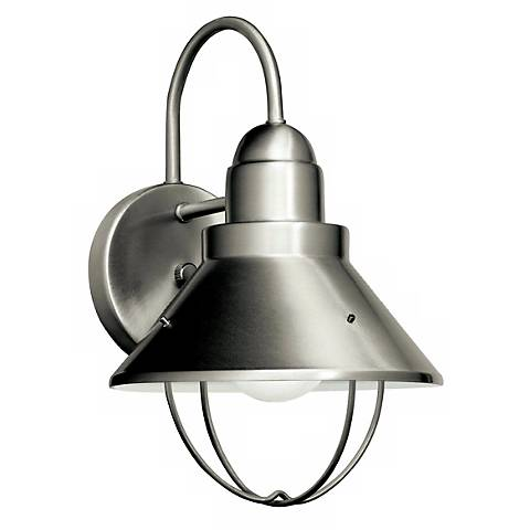 "Kichler Nickel ENERGY STAR® 12"" High Outdoor Wall Sconce"