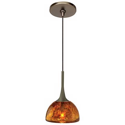 LBL Sophia Coax Amber Bronze Pendant Light