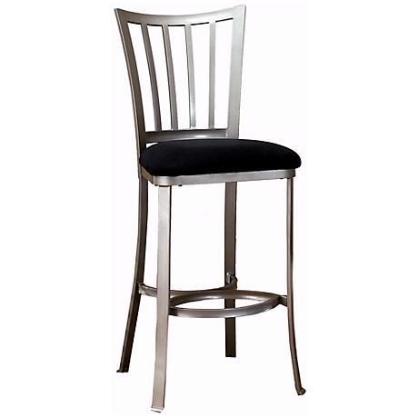 delray pewter 30 high modern bar stool k8963 lamps plus. Black Bedroom Furniture Sets. Home Design Ideas