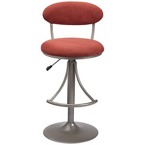 venus flame contemporary adjustable bar stool k8990 lamps plus. Black Bedroom Furniture Sets. Home Design Ideas