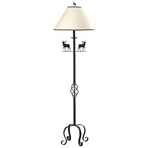 """Iron Deer 63 1/2"""" High Floor Lamp"""