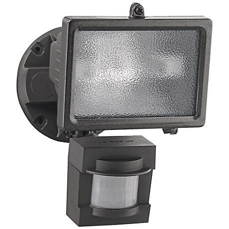 Bronze 150-Watt Halogen Motion Sensor Security Floodlight