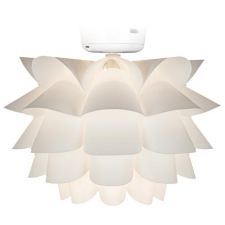 White Flower Ceiling Fan Light Kit K9774 Lamps Plus