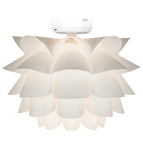 White Flower Ceiling Fan Light Kit K9774 Lamps Plus