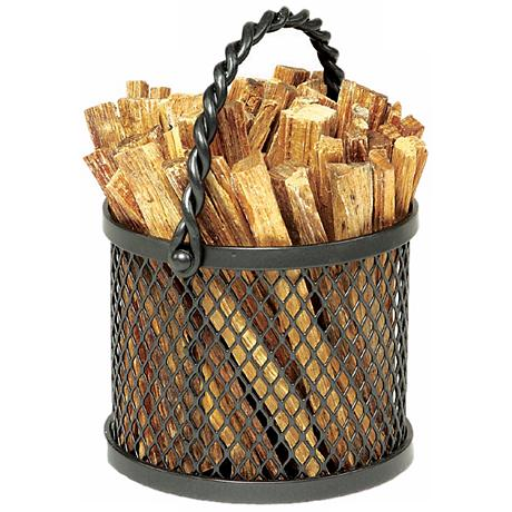 Rope Handle Basket Fatwood Caddy