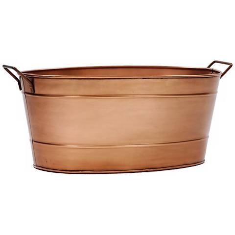 """Copper Plated 21"""" Wide Oval Tub"""