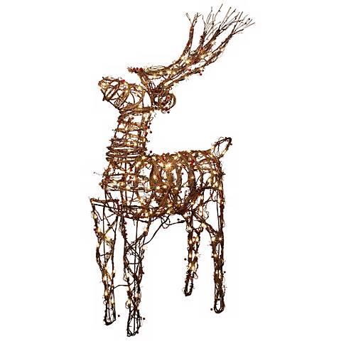 200 Light Animated Standing Deer Christmas Decoration