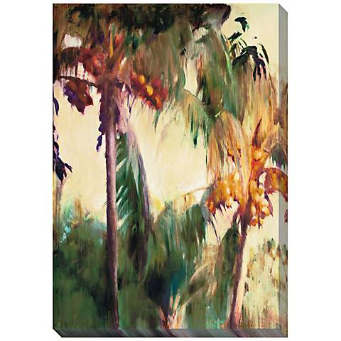 """Morning Palms Limited Edition Giclee 48"""" High Wall Art"""