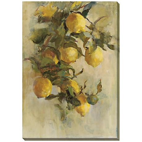 """Lemon Branch Limited Edition Giclee 33"""" Wide Wall Art"""