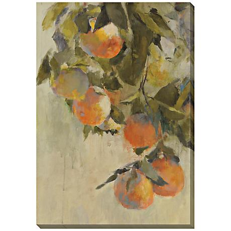 """Tangerines Limited Edition Giclee 48"""" High Wall Art"""