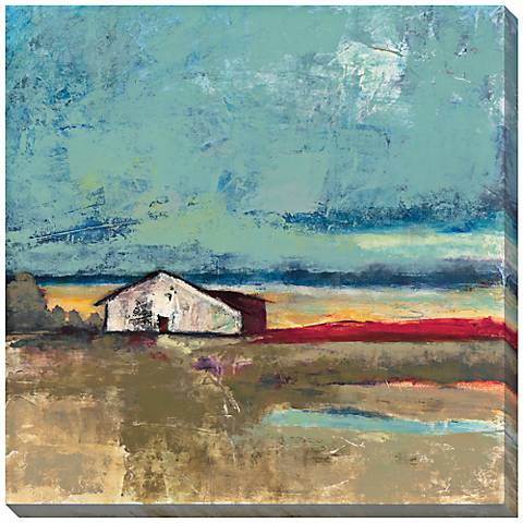 """Sunset Landscape I Giclee Indoor/Outdoor 40"""" Square Wall Art"""