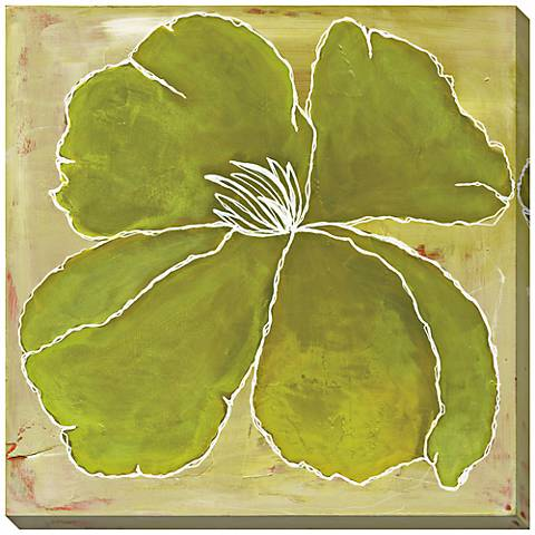 """Green Color Study Limited Edition Giclee 40"""" Square Wall Art"""