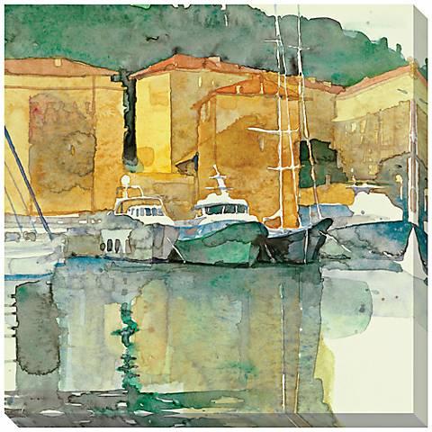 """Still Harbor Giclee Print Indoor/Outdoor 40"""" Wide Wall  Art"""
