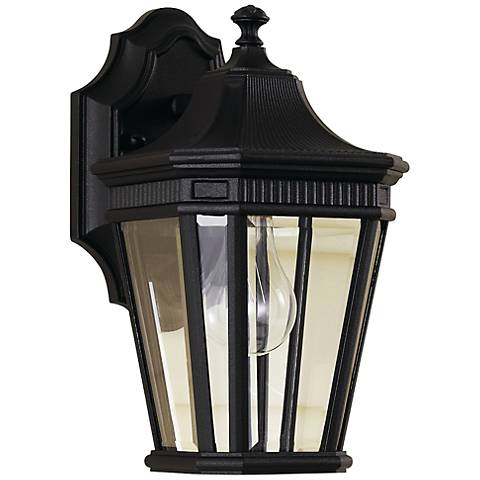 "Feiss Cotswold Lane 11 1/2""H Black Outdoor Wall Light"
