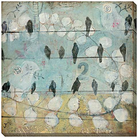 "Counting Crows Giclee Indoor/Outdoor 40"" Square Wall Art"