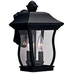 Chelsea 13 H 2 Light Clear Glass Black Outdoor Wall Light