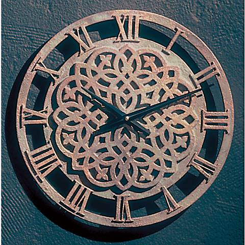 "Dublin Tower 26"" Wide Round Wall Clock"