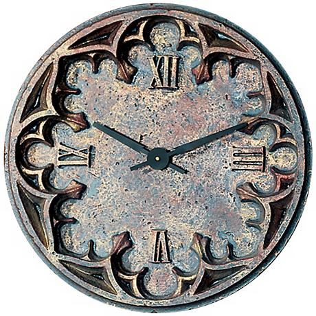 """Gothic 22"""" Wide Battery Powered Wall Clock"""