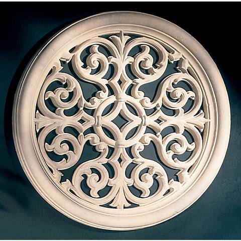 "Victorian Round Grille 32"" Wide Wall Art"