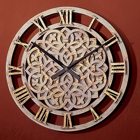 "Celtic Knot 14"" Wide Battery Powered Round Wall Clock"