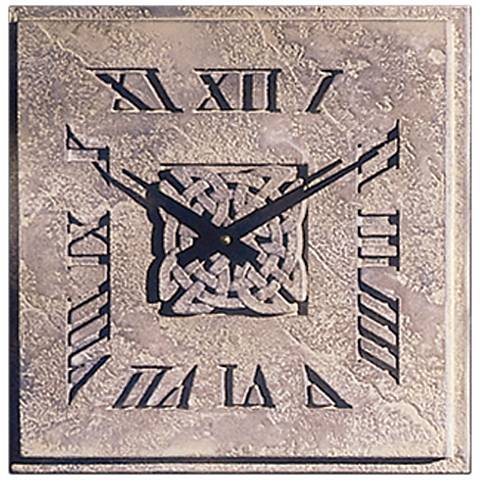 "Celtic Knot 14"" Wide Battery Powered Square Wall Clock"