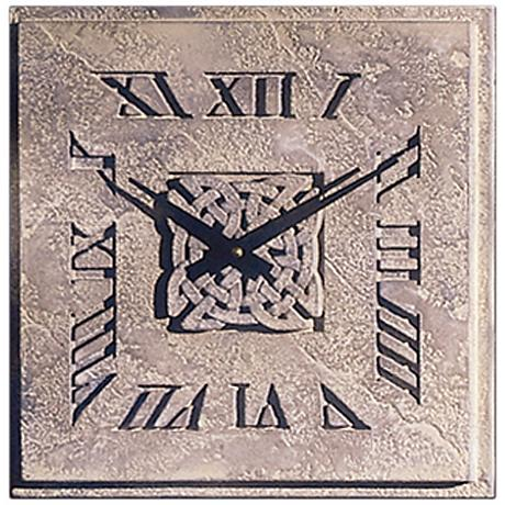"""Celtic Knot 14"""" Wide Battery Powered Square Wall Clock"""