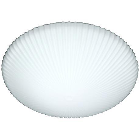 "Besa Katie 12"" Wide White Ceiling Light"