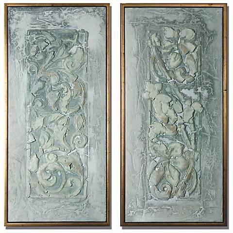 Wall Decor Lamps Plus : Decorative Flower Scroll Wall Decor Panels - #M0477 Lamps Plus