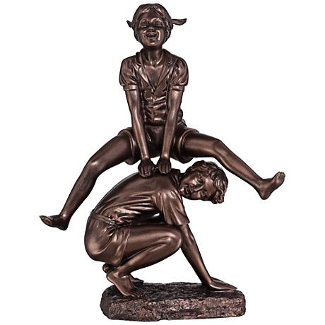 """Leap Frog Bronze Finish 18 1/4"""" High Statue"""