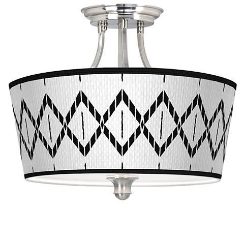 Paved Desert Tapered Drum Giclee Ceiling Light