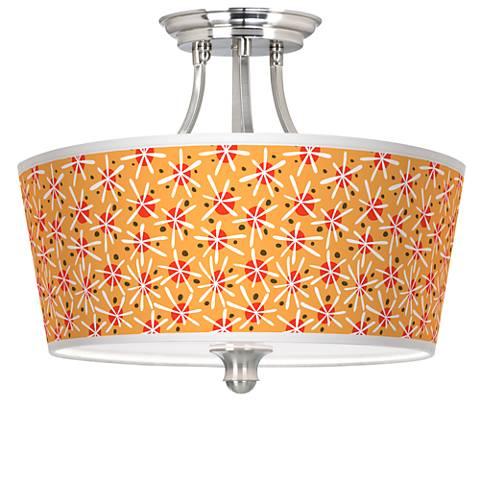 Seastar Tapered Drum Giclee Ceiling Light