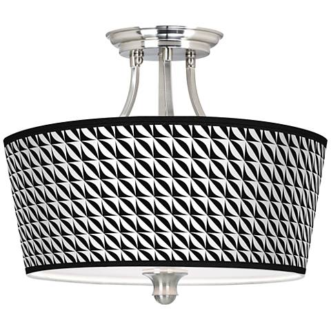 Waves Tapered Drum Giclee Ceiling Light