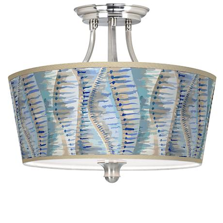 Siren Tapered Drum Giclee Ceiling Light